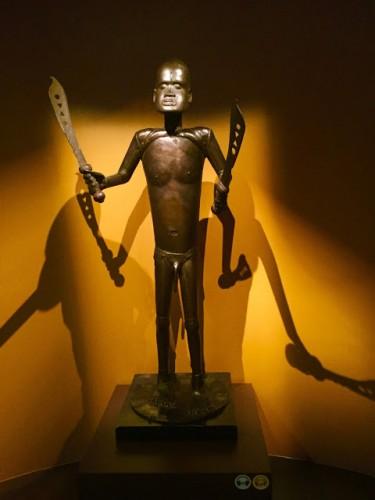 statue représentant le roi Glélè (l'un des rois du royaume d'Abomey), Fon, Bénin