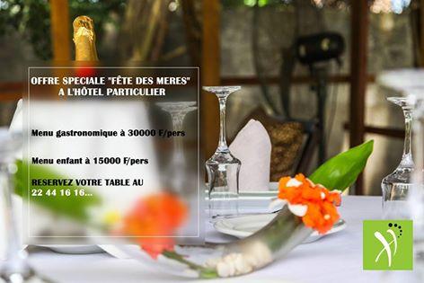 La fête des mères 2016 à Abidjan Hotel Particulier