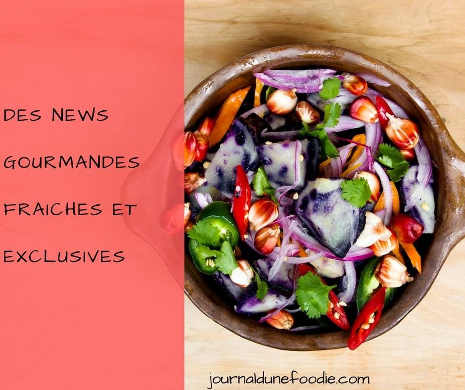 Actualité Food de Janvier 2017